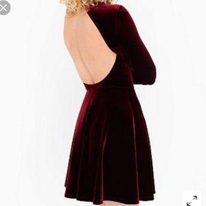 NWT American Apparel Velvet Violette Red Dress XS